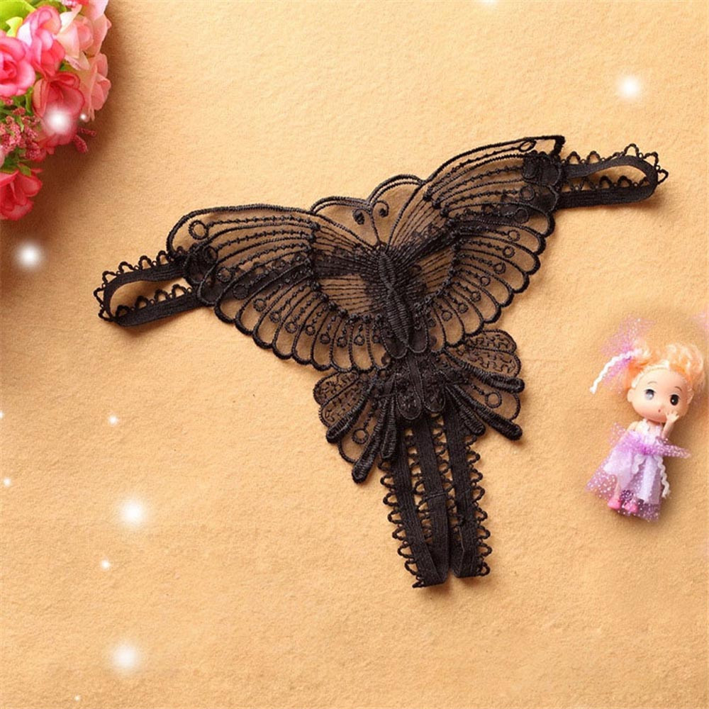 Panties Butterfly Lace Micro Women Open Thongs G Strings Transparent Underwear Underwear Women Ropa Interior Femenina #CE25