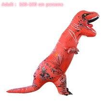Взрослые вечерние t rex динозавр модный костюм для косплея надувной динозавр T REX увеличение талисман костюм Хэллоуин для женщин мужчин