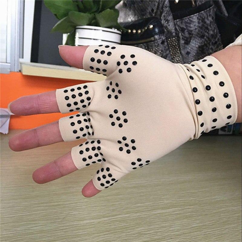 1 par de luvas de terapia magnetica artrite alivio da dor curar articulacoes tamanho livre para