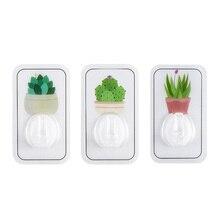 6 pcs Plant Printing Hook For Keys Plastic Self-Adhesive Door Decorative Hooks Wall Holder Home Organizer Tools EGP125B