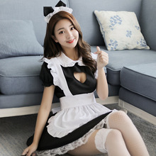 Sexy apron maid suit sexy underwear role playing hotel uniform temptation