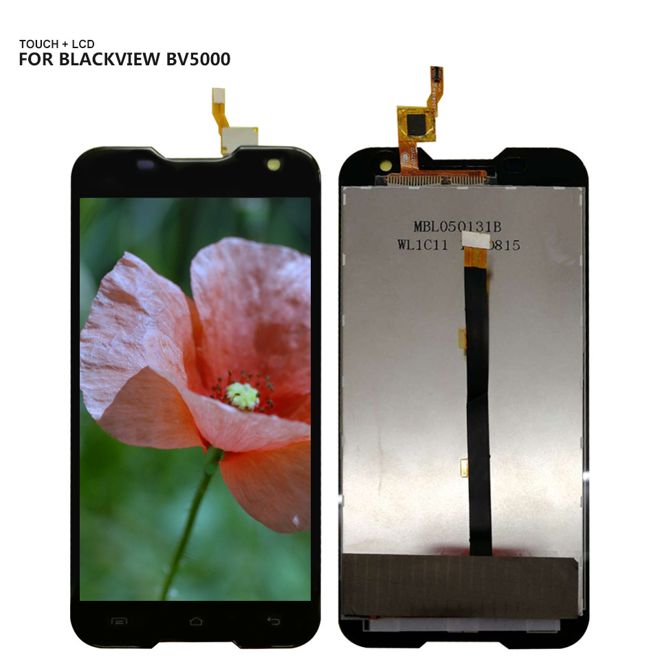 For Blackview BV5000 Touch Screen Digitizer LCD Display Assembly Black 5.0