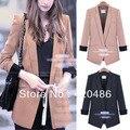 Elegante mulheres botão de lapela fina Blazer Outerwear casacos