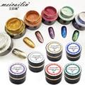 6 botellas/lot Espejo Polvo de Pigmento Pigmento de Cromo De Aluminio En Polvo de Uñas Lentejuelas Uñas Glitters DIY Decoración de Uñas Herramientas 5g/botella