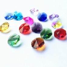 14mm mieszane kolory szkło kryształowe ośmiokątne koraliki akcesoria oświetleniowe dekoracje ślubne zawieszki kryształowe pryzmaty żyrandol Paarts tanie tanio Kryształowy żyrandol TK-0079 Chandelier Crystal k9 crystal Mixed Colors Chandelier Beads beads curtain crystal octagon beads