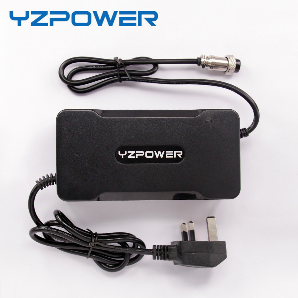 YZPOWER 54.6V 4A Smart Lithium Battery Charger For 48V Electric Scooter Bicycle ebike Wheelchair Li-ion Battery