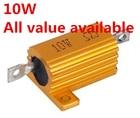 2PCS 10W 0.8R 1R 1.5R 2R 2.2R 2.5R 3R aluminum Power Metal Shell Case Wirewound Resistor 0.8 1 1.5 2 2.2 2.5 3 ohm 10W 5%