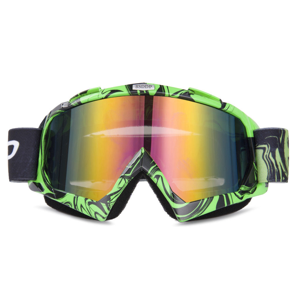 Motorcycle Accessories Protective Gears Cycling Racing Goggles ATV Dirt Bike Helmet Glass Ski Sport Snowboard  Colorful Lens
