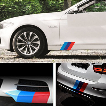1 set M Colored Stripe Decal Sticker For BMW Exterior or Interior Decoration image