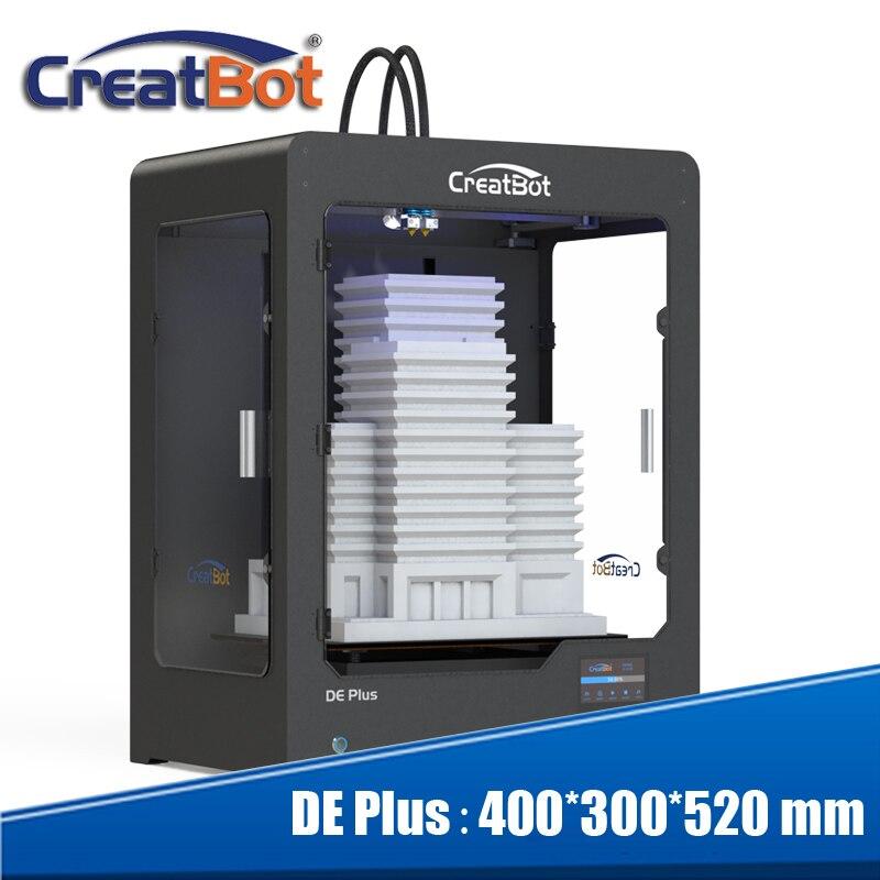 Лучшие продажи DE plus 02 3d принтер машина Прямая поставка двойной экструдер самодельный макет супер большой размер бесплатно 2 катушки ABS/PLA нит