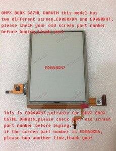 Image 1 - 100% Mới Eink Màn Hình LCD Hiển Thị Màn Hình ED060XH7 Cho Onyx Boox Darwin C67ML Đọc Ebook 1024*758 Miễn Phí Vận Chuyển
