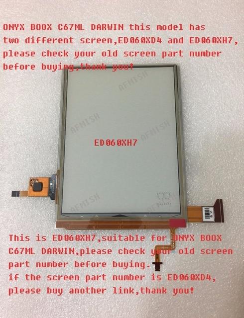 100% Mới Eink Màn Hình LCD Hiển Thị Màn Hình ED060XH7 Cho Onyx Boox Darwin C67ML Đọc Ebook 1024*758 Miễn Phí Vận Chuyển