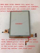 100% new eink LCD Display screen ED060XH7 for onyx  boox Darwin  C67ML ebook reader 1024*758 free shipping