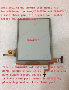 Image 1 - 100% nuovo LCD eink screen Display ED060XH7 per onyx boox Darwin C67ML lettore di ebook 1024*758 di trasporto libero