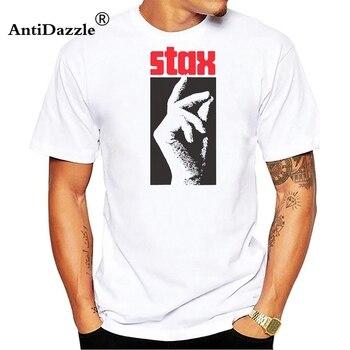 stax Funny Man T-shirt Japanese Street Wear Fashion T Shirts Punk Graphic Tees Men Boys Summer White Tshirt