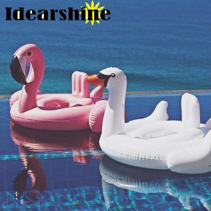 2017 Hot Baby Swimming Ring Donut Seat Inflatable Flamingo Swimming Float Swan Pool Float Baby Summer Water Fun Pool Toy Kids