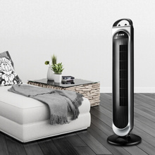 Hydromechanics Bladeless Tower Fan for Home with Absorbers Efficiency Cooling Floor Fan Portable Quiet Home Appliance In Black