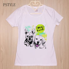 Best Friends Design Funny T Shirts Cartoon Animal Print White Tee Shirt for Lady Girl Harajuku Streetwear Camiseta Mujer
