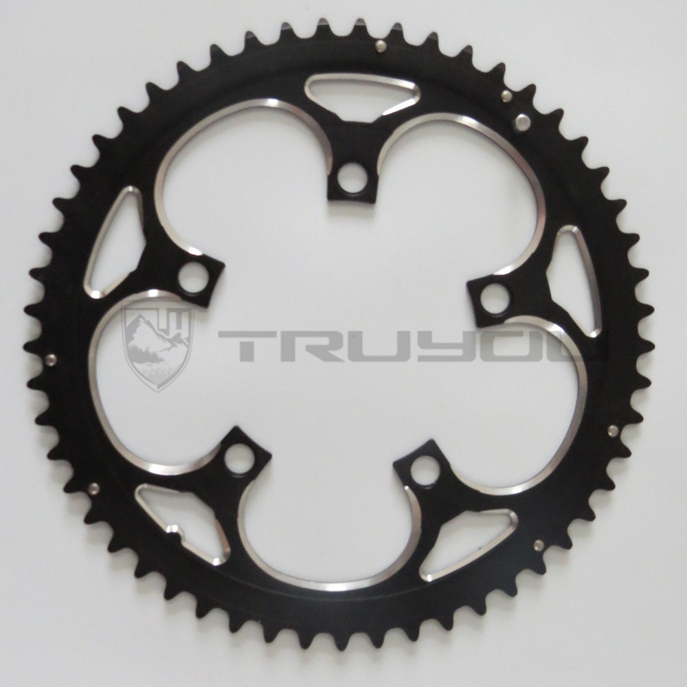 Image 3 - TRUYOU Road Bicycle Chain Wheel BCD 110 53T 39T Double Disc Black Chainwheel Folding Bike Chainring Alloy 2*7/8/9 speed CNC 3/32-in Bicycle Crank & Chainwheel from Sports & Entertainment
