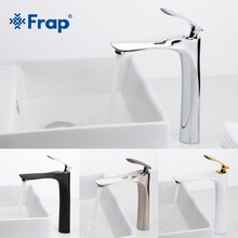 FRAP 7 colors tall Basin Faucets Bathroom Faucet Hot and Cold Water Mixer Tap Chrome Brass Toilet Sink Water Heightening Crane цена
