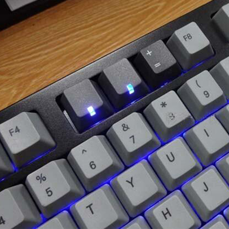 Lovely Orignal Hight R4 Pbt Mechanical Keyboard Light Keycaps Black White Grey Color Backlight Caps Keyboards