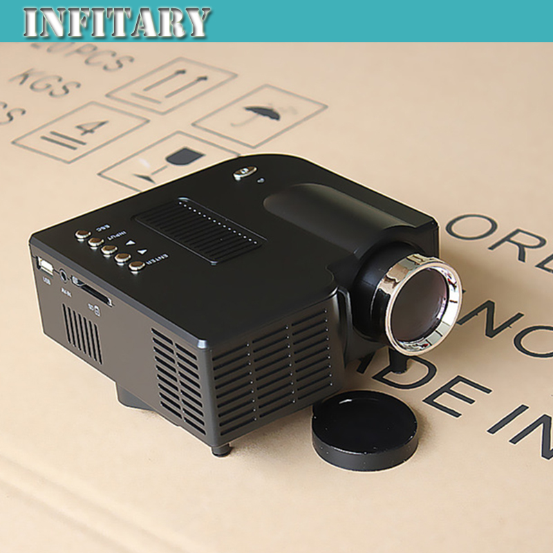 Cheap portable led projector cinema theater pc laptop vga for Pocket projector hdmi input