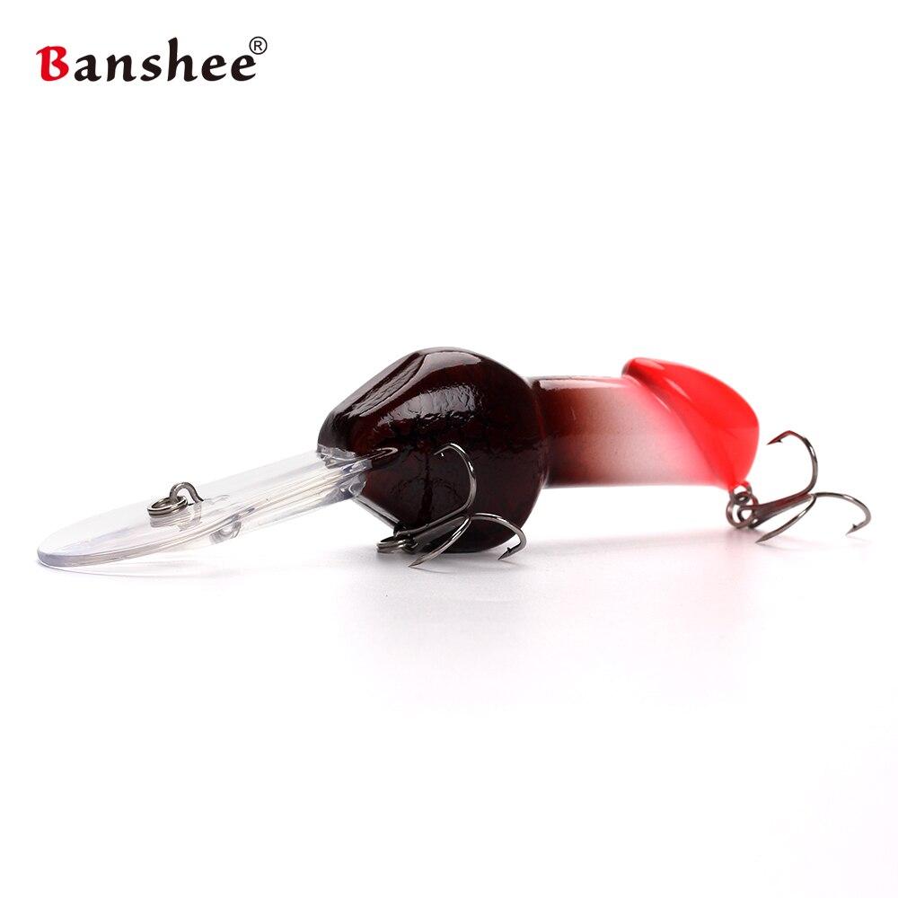 Banshee 85mm 27G JJ01 regalo de San Valentín gran buceo profundo Dick sonajero Minnow Crankbait cebo de pesca artificiales cebo