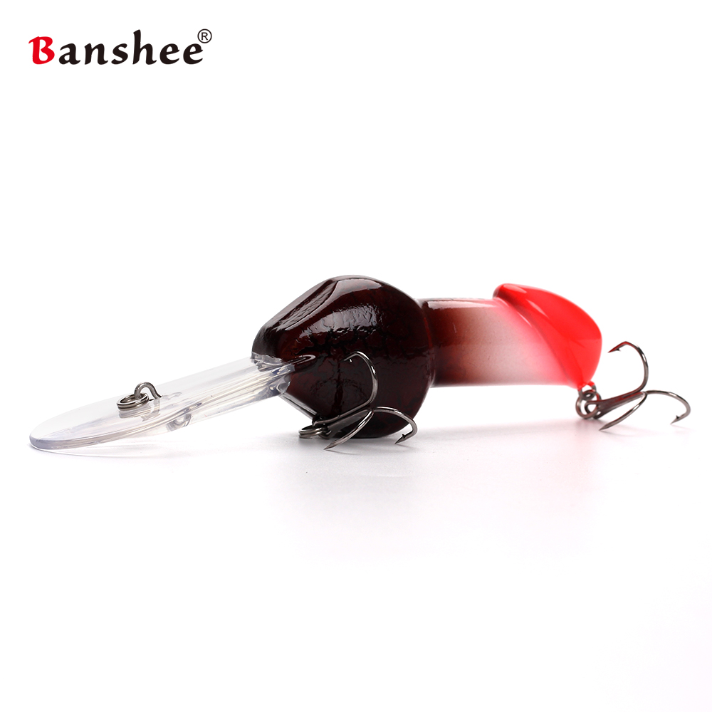 Banshee 85mm 27G JJ01 regalo de San Valentín grande profundo buceo Dick sonajero Minnow Crankbait pesca señuelo Artificial duro cebo