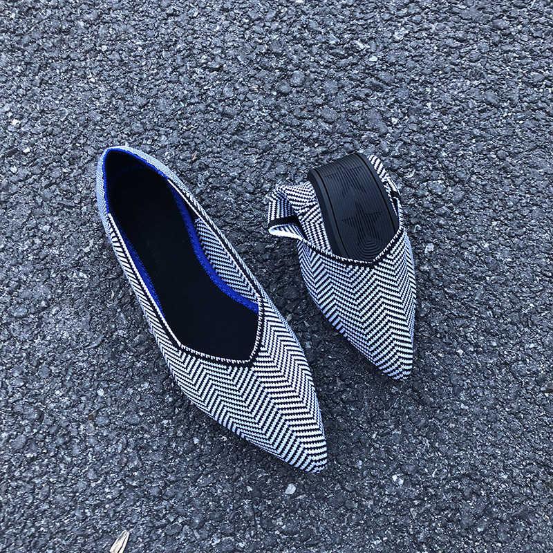 Zomer nieuwe vrouwen schoenen ademend zachte bodem Luipaard print camouflage knit platte schoenen wees ondiepe mond platte enkele schoenen