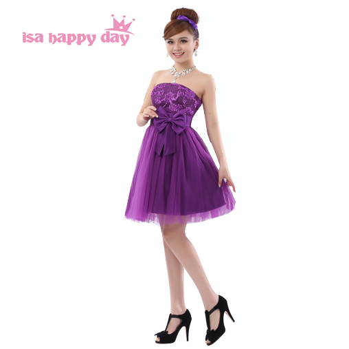Most Popular Bridesmaid Dress: Most Popular Deep Purple Bride Maid Strapless Formal Xs