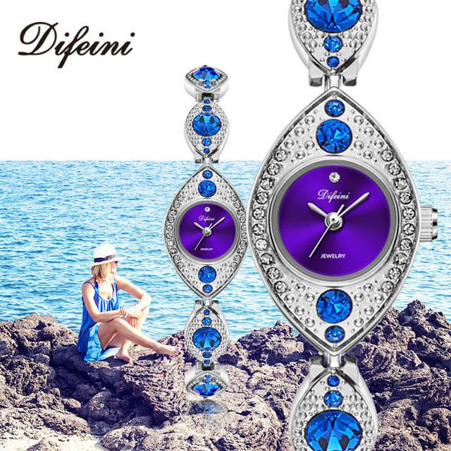 DIFEINI Quartz Watch Women 2018 Women Bracelet Watches Stainless Steel Luxury Ov