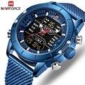 NAVIFORCE мужские часы Топ люксовый брендовый мужской военный спортивный кварцевые наручные часы из нержавеющей стали светодиодный цифровые ч...