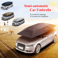 Portable Semi automatic Car Umbrella Sunshade Roof Cover Outdoor Tent UV Protection