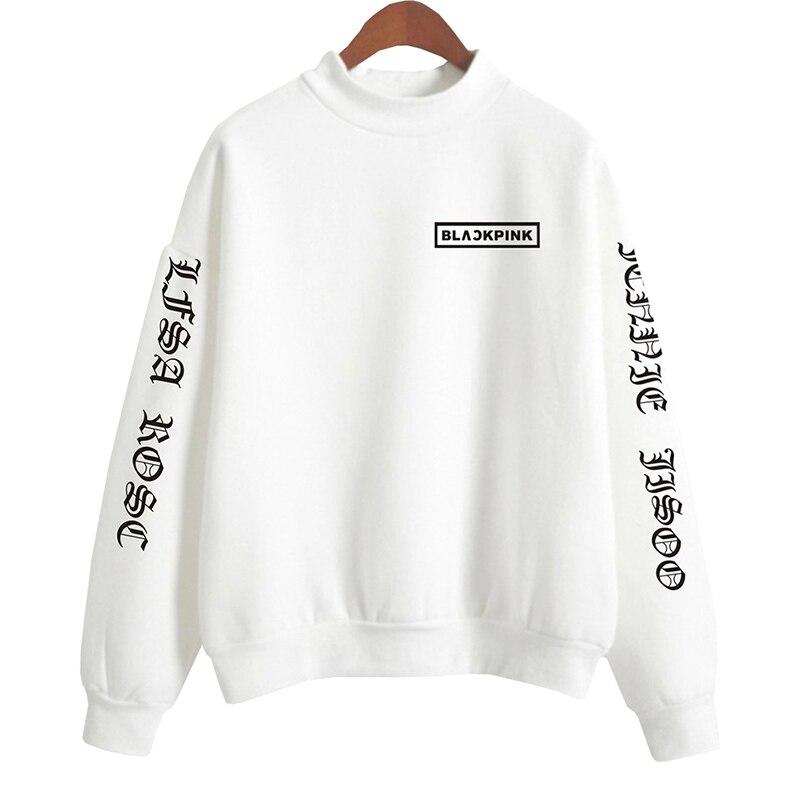 2018 BTS Blackpink K Women Hoodies Sweatshirts Outwear Hip-Hop Black Print Men K-Pop Hoodies Sweatshirts Clothes