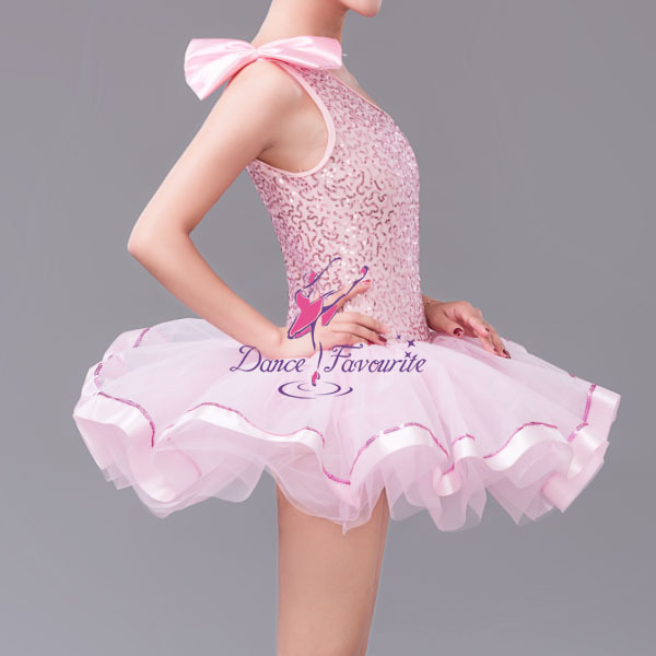 Aliexpress Buy Girls Pink Ballet Tutu Sequin Dress For