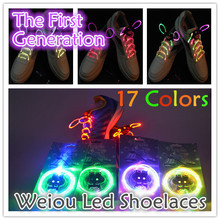 Boys Girls Kids Light Up LED Shoelaces Flash Party Disco Shoe Laces Shoe Strings Free Drop shipping Stock