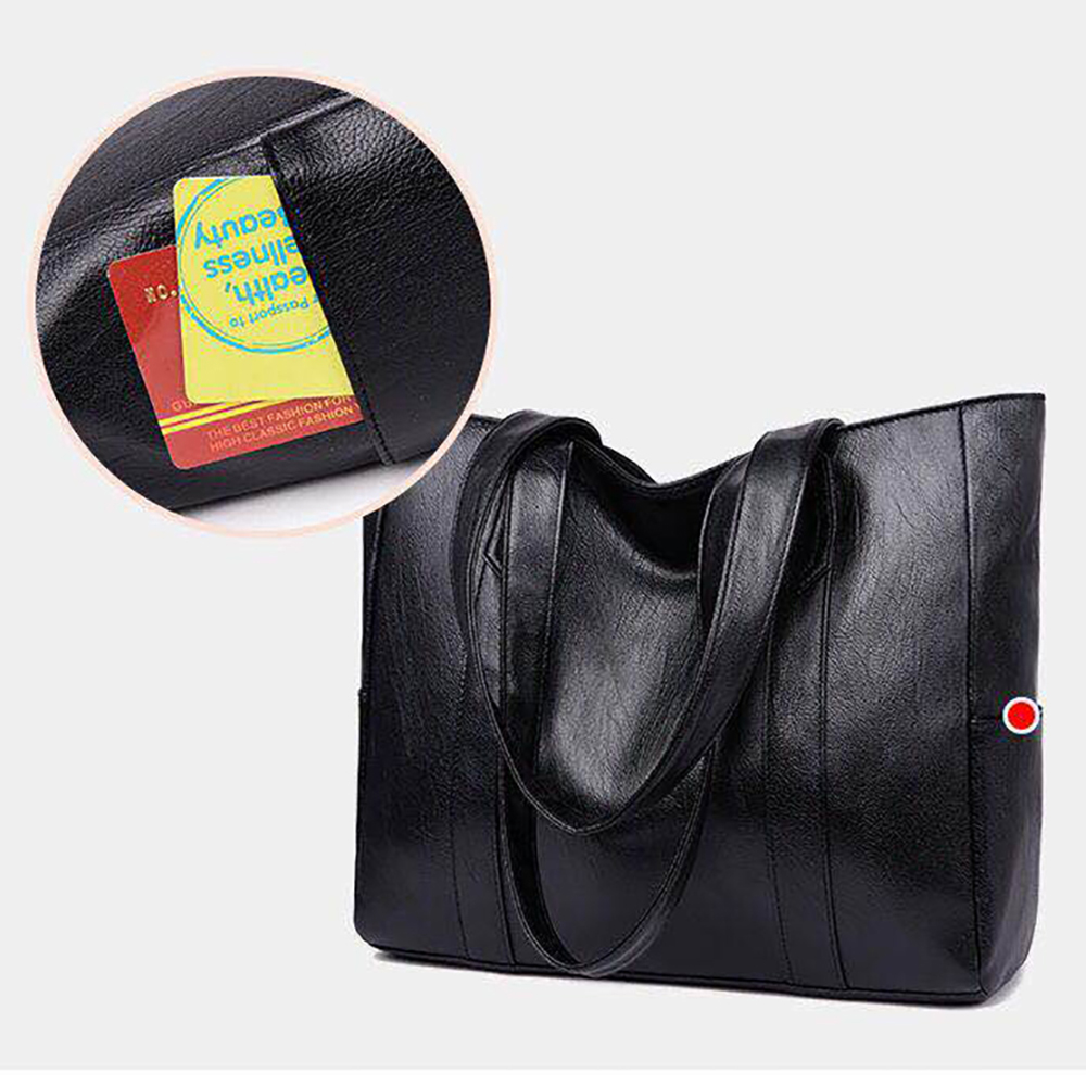 Women Bag Big Size Vintage Soft Female PU Leather Tote Handbag Women 39 s Casual Large Capacity Shoulder Bag Girl Retro Travel in Shoulder Bags from Luggage amp Bags