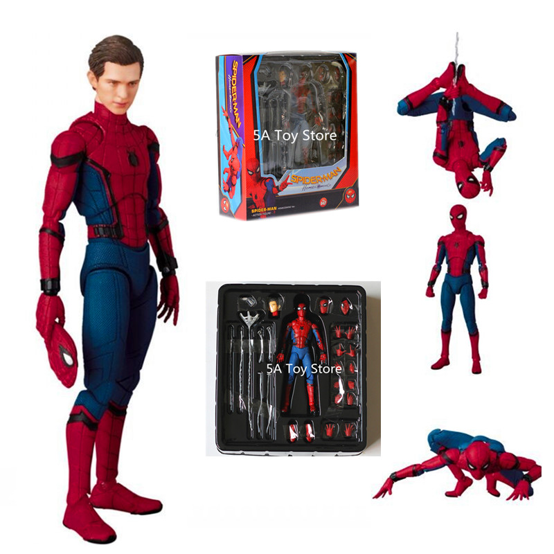 Justice League Spider-Man Homecoming MAF047 The Spiderman Tom Holland PVC Action Figure Collection Toy 15cm Retial Box