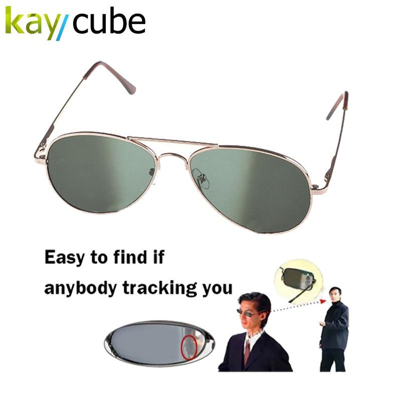Anti UV Anti-Tracking Солнцезащитные Анти-Трек Монитор Очки Заднего Вида Солнцезащитные Очки Черные Очки Зеркало Безопасности ошибка детектора