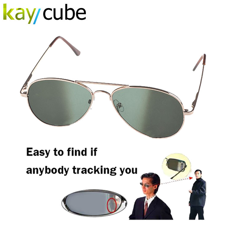 Anti UV Anti-Tracking Sunglasses Anti-Track Monitor Sunglasses Rearview Sunglasses Black Glasses Security Mirror bug detector frog mirror pc alloy full rim casual unisex classical sunglasses glasses coffee