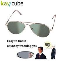 Anti UV Anti-Tracking Sunglasses Anti-Track Monitor Sunglasses Rearview Sunglasses Black Glasses Security Mirror bug detector