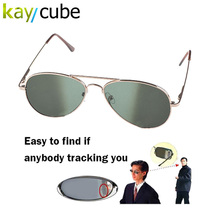 Anti UV Anti-Tracking Sunglasses Anti-Track Monitor Sunglasses Rearview Sunglasses Black Glasses Security Mirror bug detector