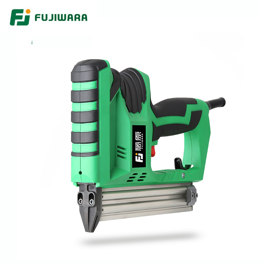 FUJIWARA 2200W Electric Quick Nail Gun Woodworking Nailing Tool F10 F30 Nails Home DIY Carpentry Decoration