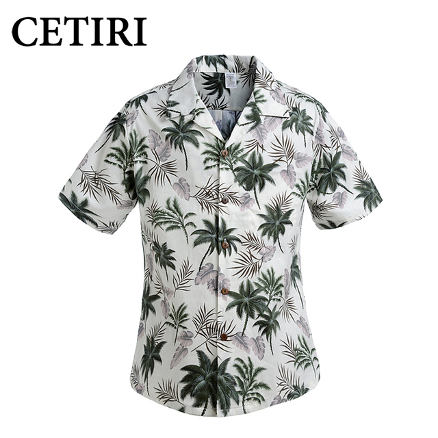 98900a9b04c3 Cotton Mens Floral Dress Shirts Hawaiian Large Cruise Tropical Luau Beach  Hawaiia Shirt Party Palm Leisure Shirts Chemise Homme