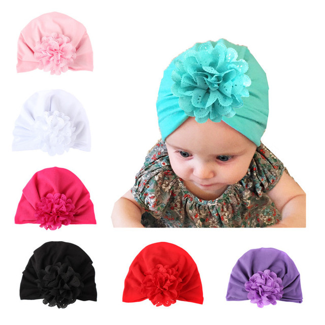 d20441b54 Baby Hat Big Floral Baby Girls Hats Flower Baby Girls Caps ...