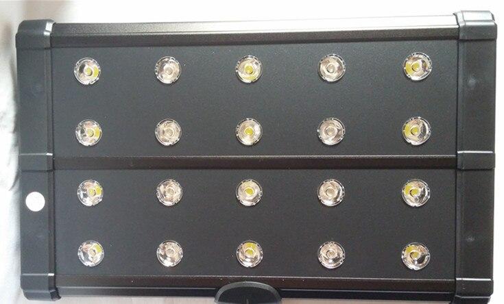 Pince de led pour aquarium 20x3 W 60 W sur l'éclairage, led bleue 6X10000 k + 3X ou led 20X6500 k, pour réservoir de plantes de corail de récif