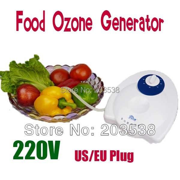 220V US EU Plug Food Water Air Ozone Generator Ozonizer Sterilizer Fruit Air Sterilizer Removes Harmful