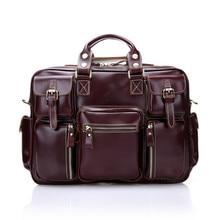 2017 New Brand Genuine Leather Men Messenger Bags Large Capacity Shoulder Men Handbags Vintage Cowhide Men Travel Bags  A1839