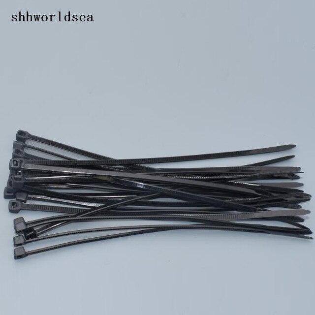shhworldsea 500PCS wholesal 5*200mm black Self locking Plastic Nylon ...