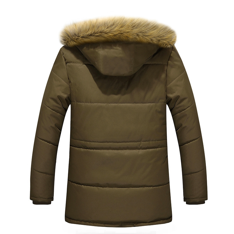 Outdoor Skiing Hiking Thicken Warm Winter Down Fur Collar Cotton Coats Mens Plus Velvet Hooded Winter Jackets for Male